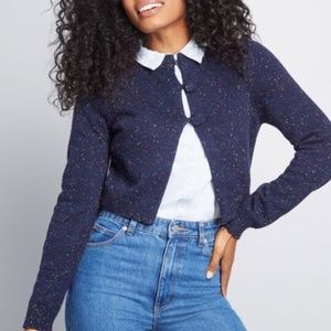Modcloth Wrapped in Retro Cropped Cardigan sz. L